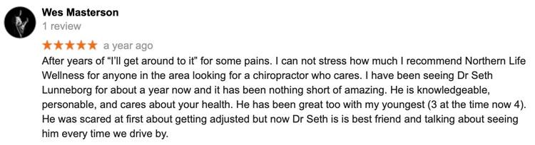 Fargo Moorhead Chiropractic and Wellness Patient Testimonial